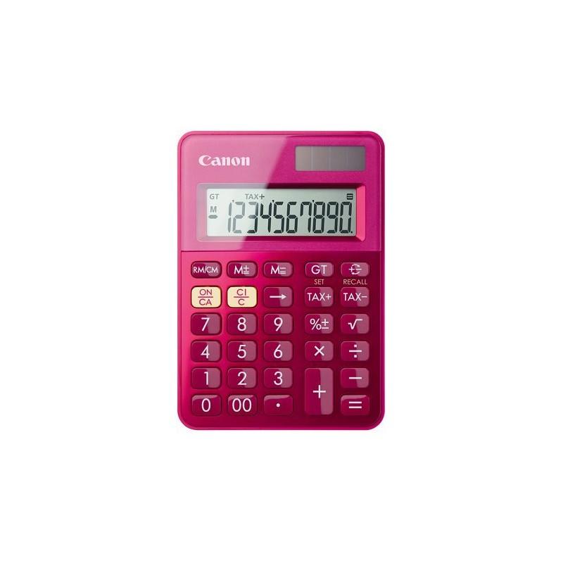 stolová kalkulačka CANON LS-100K ružová, 10 miest, solárne napájanie + batérie 0289C003