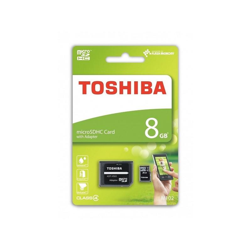 8 GB microSDHC karta Toshiba M102 Class 4 + adaptér THN-M102K0080M2
