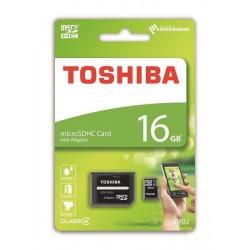 16 GB microSDHC karta Toshiba M102 Class 4 + adaptér THN-M102K0160M2