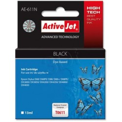 ActiveJet Ink cartridge Eps T0611 D68/D88/DX3800 Black - 13 ml AE-611 EXPACJAEP0195