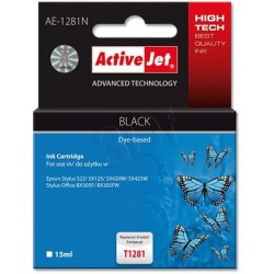 ActiveJet ink cartr. Eps T1281 Black S22/SX125/SX425 100% NEW AE-1281 EXPACJAEP0199