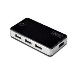 Digitus USB 2.0 hub 7-portů černý s napájecím zdrojem ( 5V , 3,5A ) DA-70222