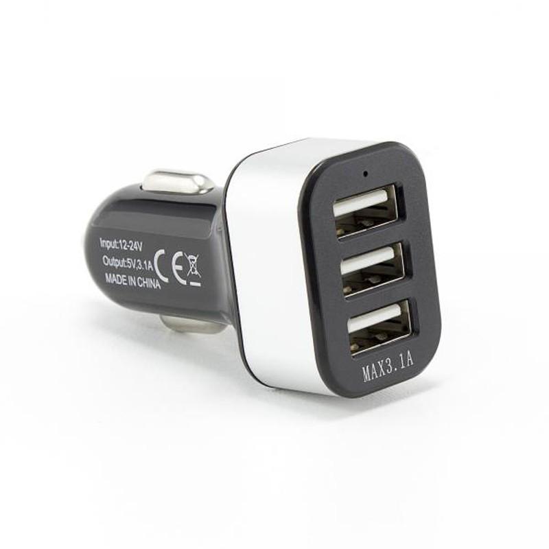 SBOX Autonabíjačka 3x USB 2.0 CC-331B blk
