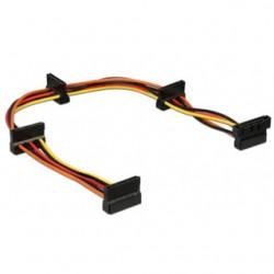 GEMBIRD Predlžovací napajací SATA kábel 4-port CC-SATAMF-03