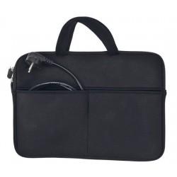 Solight neoprénové puzdro na notebook 13' - 14', 2 tašky, držadlá, čierna 1N33