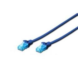 Digitus Ecoline Patch Cable, UTP, CAT 5e, AWG 26/7, modrý 10m, 1ks...
