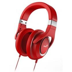 GENIUS headset HS-610/ sluchátka s mikrofonem, 3,5mm jack - 4-pin,červené 31710010402