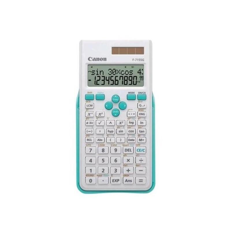 vedecká kalkulačka CANON F-715SG bielo/modrá, 250 vedeckých a štatistických funkcií 5730B003