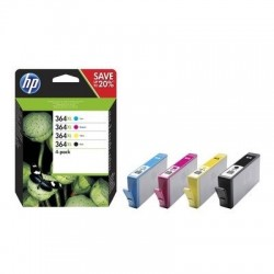 HP 364XL CMYK Ink Cartridge Combo 4-Pack, /náhrada za J3M83AE/ N9J74AE