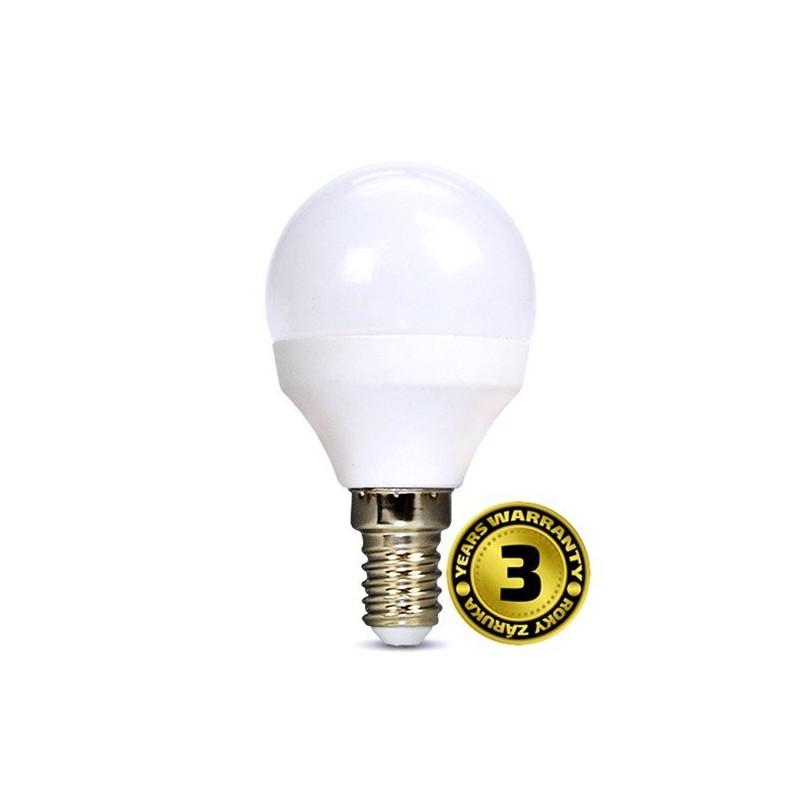 Solight LED žiarovka, miniglobe, 8W, E14, 3000K, 720lm, biele prevedenie WZ425