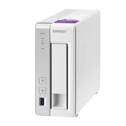 QNAP TS-131P Turbo NAS server, 1,7 GHz DC/1GB DDR3/1x HDD/1xGL/USB 3.0/iSCSI UMNP00313