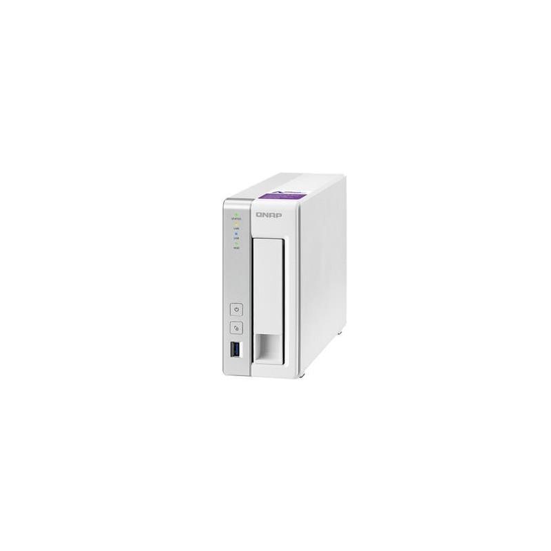 QNAP TS-131P Turbo NAS server, 1,7 GHz DC/1GB DDR3/1x HDD/1xGL/USB 3.0/iSCSI UMNP00313