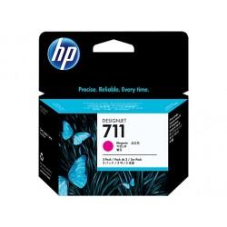 HP náplň č. 711 purpurová, 29 ml - 3 ks v balení CZ135A