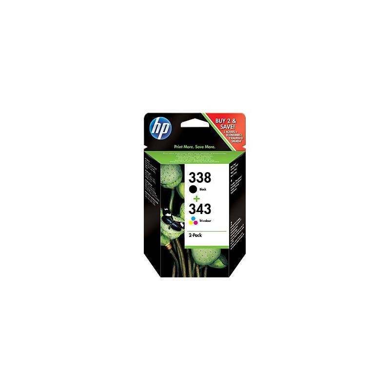HP náplne č.338/343 kombinované balenie SD449EE
