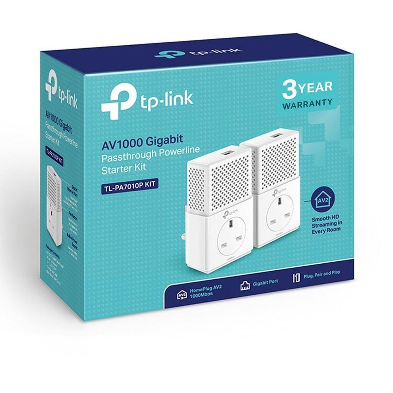 TP-Link TL-PA7010PKIT AV1000 1-Port Gigabit Passth