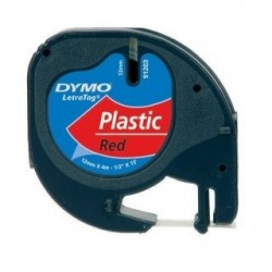 páska DYMO 59424 LetraTag Red Plastic Tape (12mm) S0721680/S0721580/S0721630
