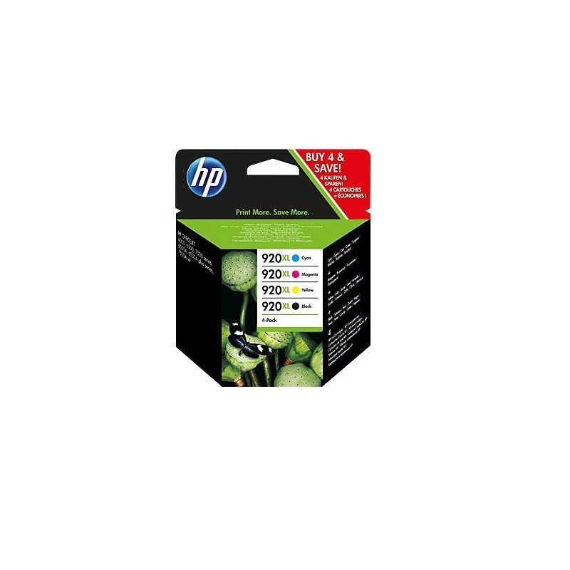 HP 920XL CMYK Ink Cartridge Combo Pack C2N92AE