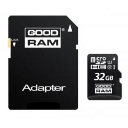 32 GB microSDHC karta GOODRAM Class 10 UHS I + adapter M1AA-0320R12