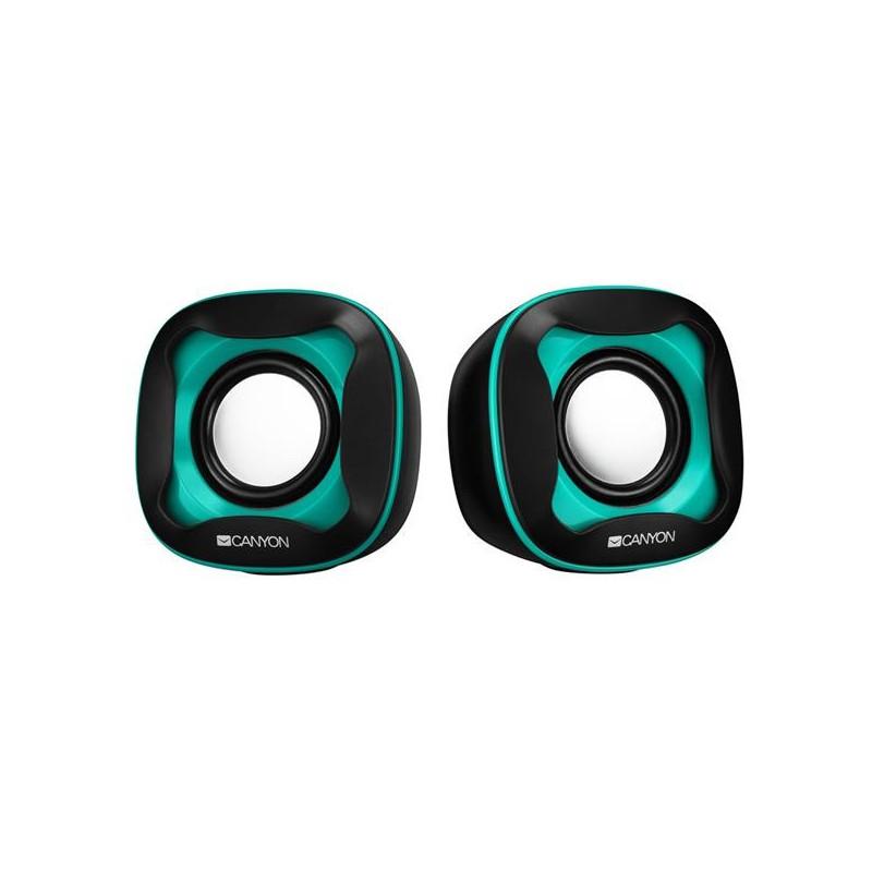 Canyon CNS-CSP202 reproduktory 2.0, 2 x3W, USB napájanie, 3.5 mm mini-jack, čierno-modré