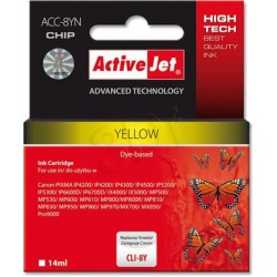 ActiveJet Ink cartridge Canon CLI-8 Yellow WITH CHIP - 14 ml ACC-8Y EXPACJACA0070