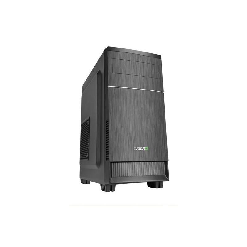 EVOLVEO M1, case mATX, 2x USB2.0 / 1x USB3.0 / 2x 120mm LED / 1x 140mm/ černý CAEMQ0100