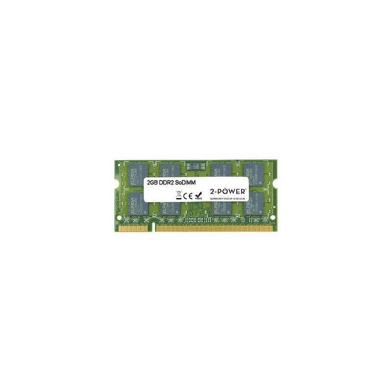 2-Power 2GB PC2-5300S 667MHz DDR2 CL5 SoDIMM 2Rx8 (DOŽIVOTNÍ ZÁRUKA) MEM4202A