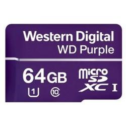 Western Digital PURPLE microSDXC CARD WDD064G1P0A 64GB Class 10 (R80 / W50 MB/s)