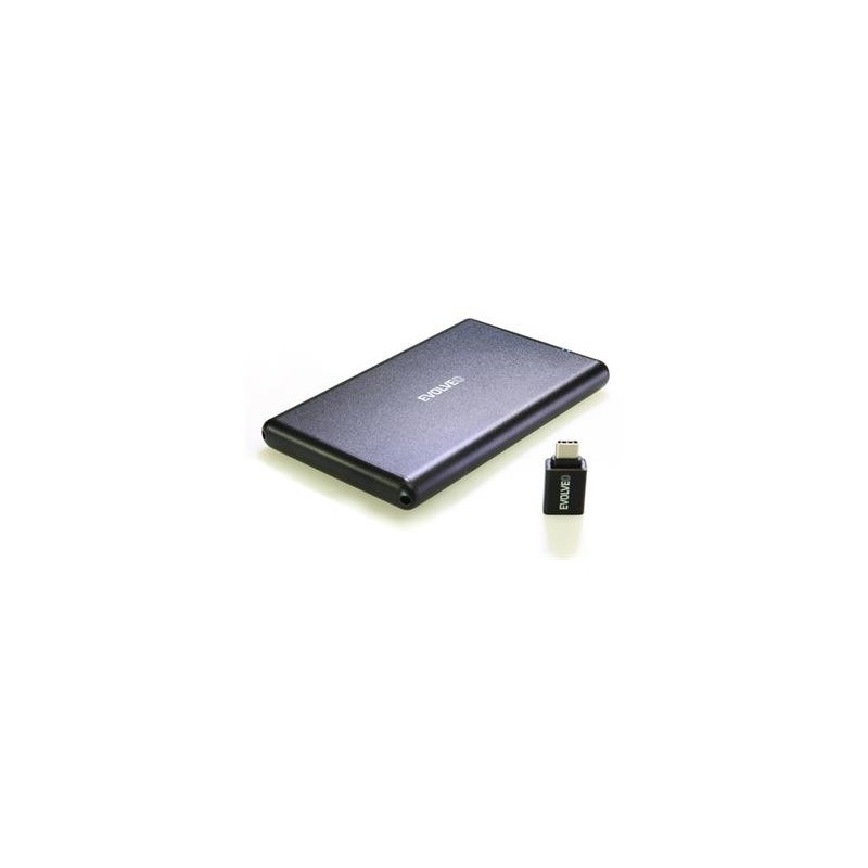 """EVOLVEO 2.5"""" Tiny 2, 10Gb/s, externí rámeček na HDD, USB A 3.1 + redukce USB A/USB C TINY2"""