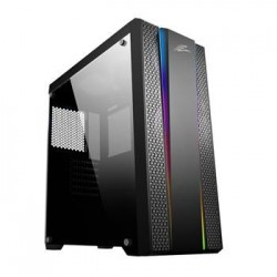 EVOLVEO Functio1, case ATX, bez ventilátorů, tvrzené sklo, RGB pásky CAEFunctio1