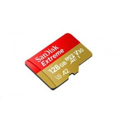 SanDisk Extreme microSDXC 128GB - 160MB/s R/90MB/s W, A2 C10 V30...