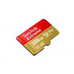 SanDisk Extreme microSDXC 256GB - 160MB/s R/90MB/s W, A2 C10 V30...