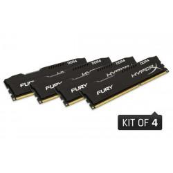 DDR 4 16GB 2400MHz CL15 HyperX FURY Black Kingston (4x4GB) HX424C15FBK4/16