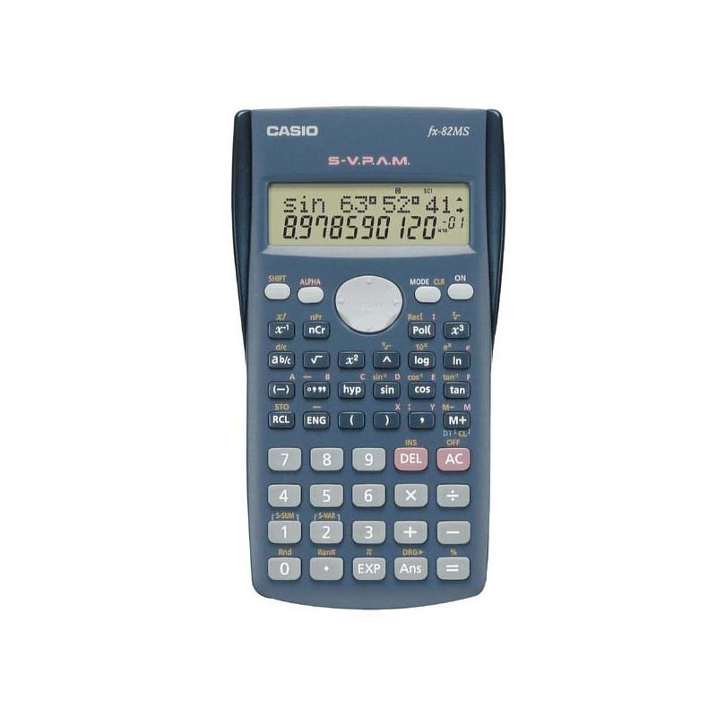 Casio Kalkulačka FX 82 MS, čierna, školská, desaťmiestna