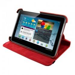 4World Puzdro - stojan pre Galaxy Tab 2, Rotary, 7', červený 09113
