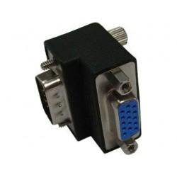 Delock adaptér VGA samec / samica pravouhlý 65171