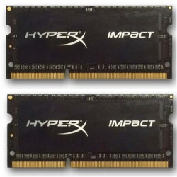 DDR 3 8 GB 1600MHz SODIMM CL9 Kingston HyperX Impact Black Series 1,35V (2x4GB) HX316LS9IBK2/8