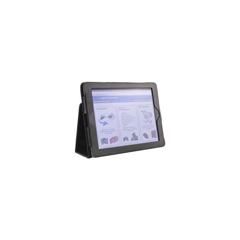 Esperanza ET168 LIVORNO puzdro na iPad 2/iPad NEW (iPad 3), eko koža, čierne ET168 - 5901299902745