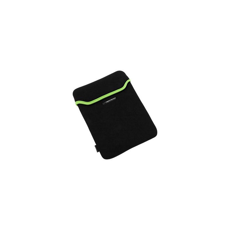 Esperanza ET173G Puzdro pre tablet 10.1' (16:9), 3mm neoprén, čierno-zelené ET173G - 5901299903209