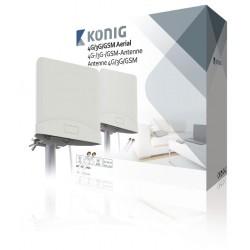 Koenig 4G/3G/GSM anténa s 2 kabely 2,5 m ANT-4G20-KN