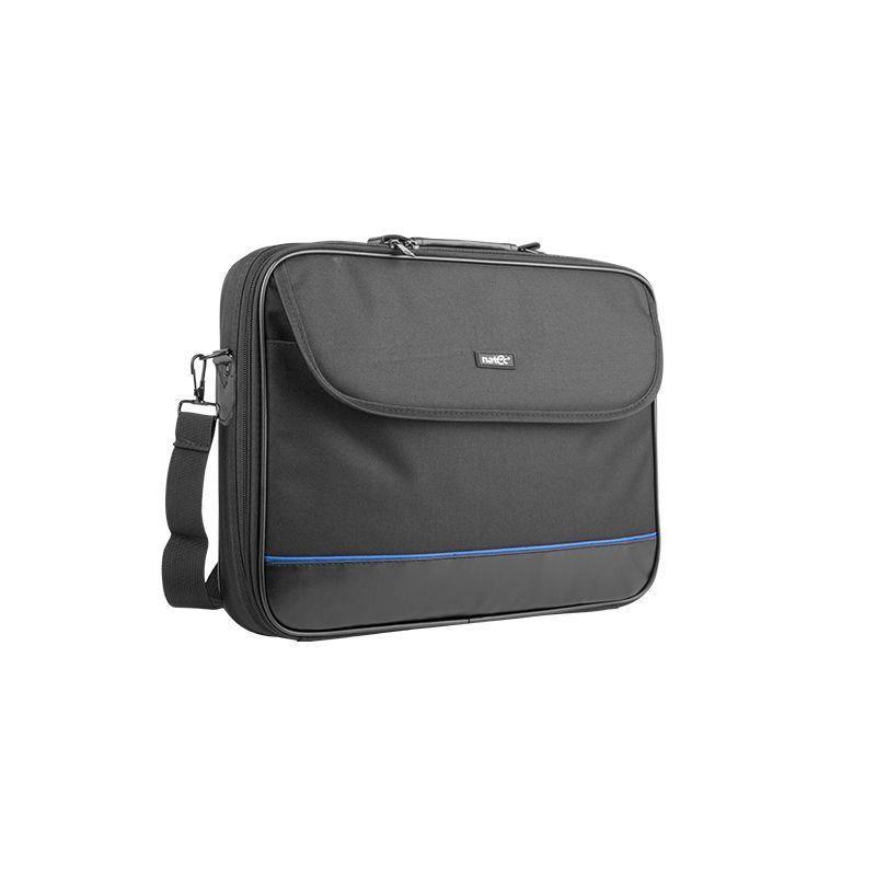 Natec IMPALA taška na notebook 15.6', čierno-modrá (stiff shock absorbing frame NTO-0335