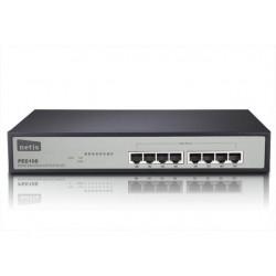 Netis Switch POE 19' 8-port 100 MB (8 ports POE, 15,4W/Port, max 124W) PE6108