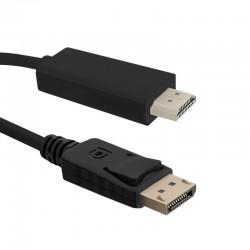 Qoltec Cable DisplayPort v1.1 male | HDMI male | 1080p | 3m 50442