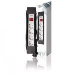 Extension Socket Pro-Line 4-Way 3.00 m Black/White - French KNES430E1PRO