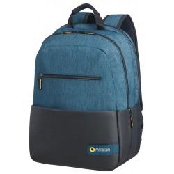 Backpack American Tourister 28G19002 CD 15,6' comp, doc, tblt, pockets, blck/bl 28G-19-002