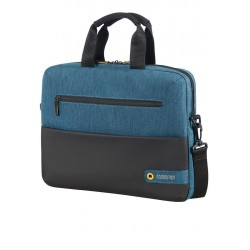Bag American Tourister 28G19003 CD 14,1' comp, doc, tblt, pock, blk/blue 28G-19-003