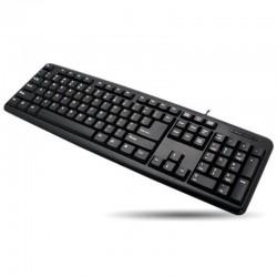 Techly USB klávesnica 104 klávesy, US layout, čierna 302839