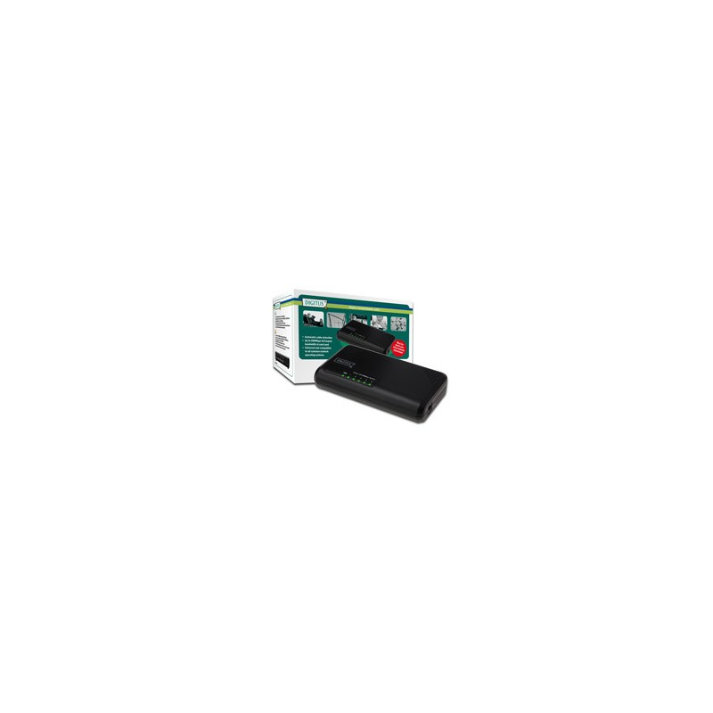 Mini switch DIGITUS, 5-portový, Fast Ethernet N-Way DN-50012-1