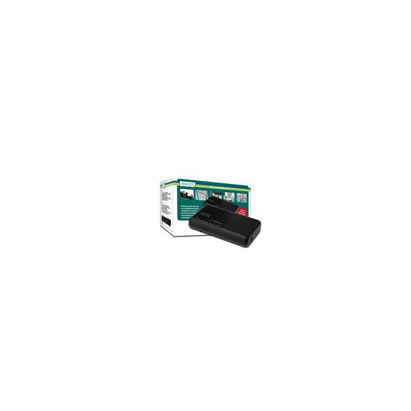 Mini switch DIGITUS, 8-portový, Fast Ethernet N-Way DN-50022-1