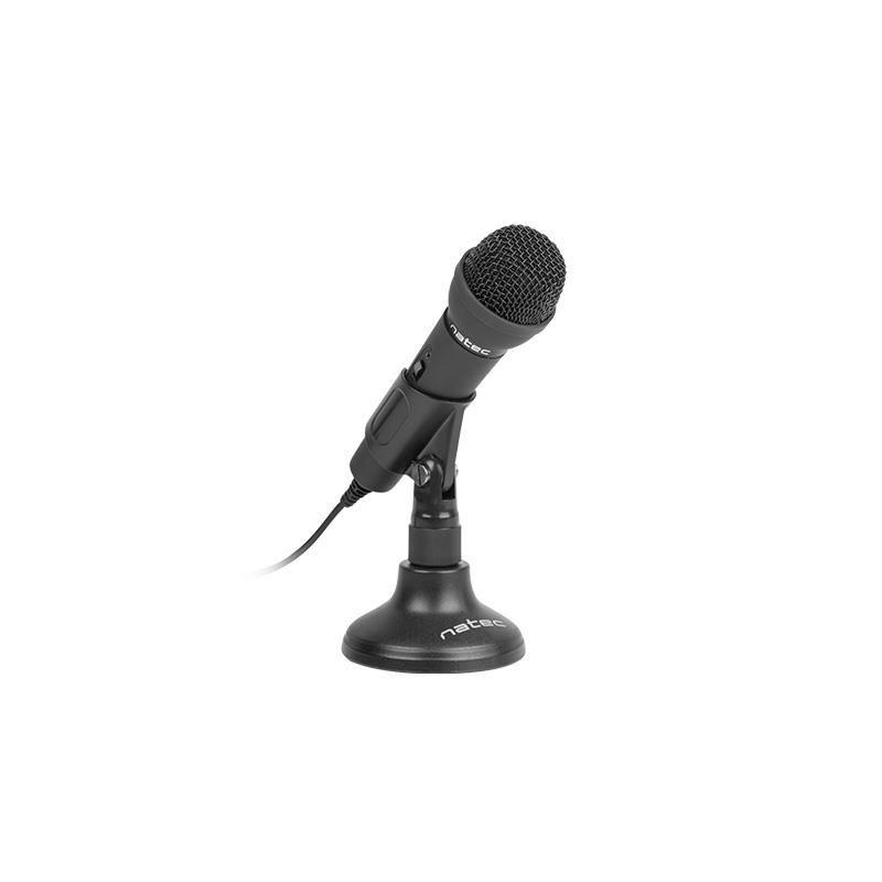 Natec Microphone Adder Black Mini Jack 3,5mm Low-Noise,omniderctional Microphone NMI-0776