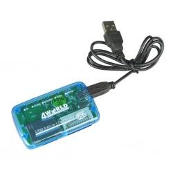 4World Univerzálna čítačka flash kariet 26v1 USB 2.0 03274-BLU